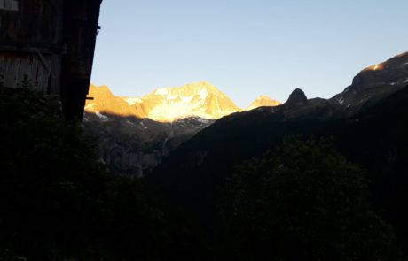 Kofler-Biohof Sonnenuntergang